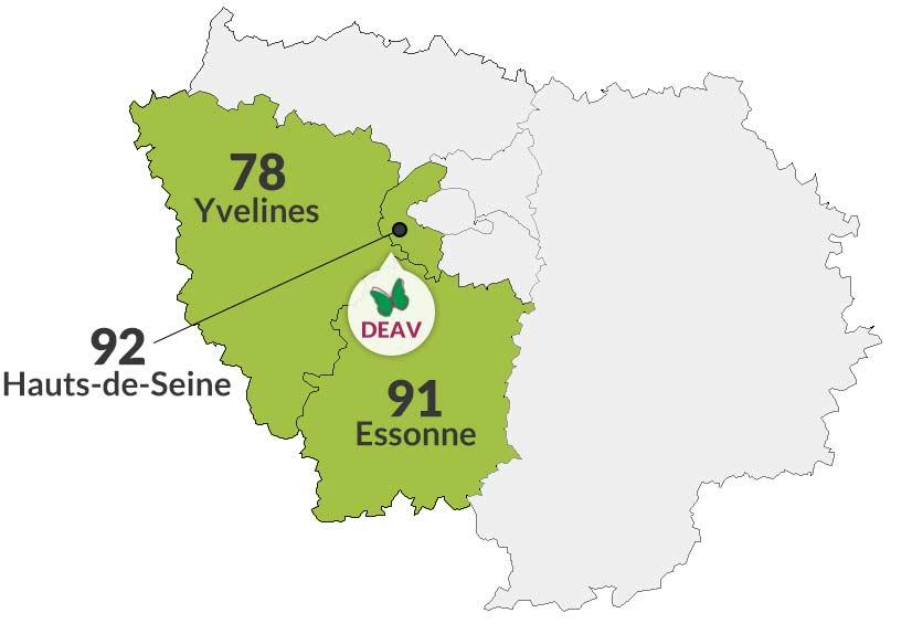 Yvelines 78 | Essonne 91 | Hauts-de-Seine 92
